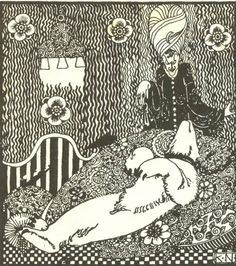"""I Think the Bear had Best Stay Here Til Morning"" from 'Bluebelt', Kay Nielsen."