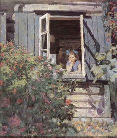 """Решетников Ф. """"На даче"""", 1949"""