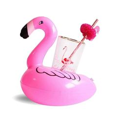 Inflatable Flamingo Float Water Bottle Drink Cup Holder Beverage Boat Pool s Inflatable Palm Tree, Inflatable Float, Floating Cup Holder, Unicorn Cups, Flamingo Float, New Style Tops, Drink Holder, Cup Holders, Pool Floats