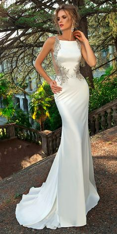 77c8893ad927 Alluring Tulle  amp  Acetate Satin Bateau Neckline Mermaid Wedding Dress  With Beaded Embroidery Gorgeous Wedding