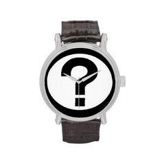 Big question mark watch