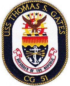 CG-51 USS THOMAS S GATES PATCH