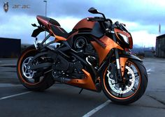 Streetfighter ARAC ZXS Motorcycle Concept Design Pictures