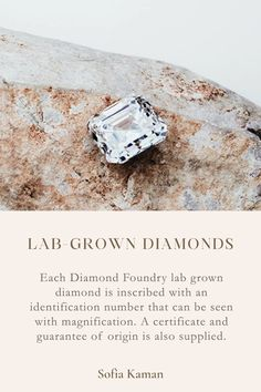 Lab grown diamonds are the perfect natural diamond alternative because they are guaranteed conflict-free and created above ground with renewable energy. Just like natural diamonds, no two stones are alike and each has its own one-of-a-kind inclusion and unique growing pattern. Sofia Kaman Fine Jewels is proud be one of the only showrooms in LA to partner with Diamond Foundry for beautiful, conflict-free, lab grown diamonds. Click to shop unique, Lab-Grown Diamond Engagement Rings.
