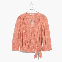 Wrap Top in Star Scatter : tops & blouses | Madewell