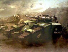 Salamanders relic Sicaran Battle Tank in combat.