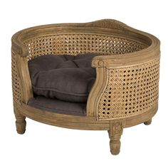 Luxury dog bed - George - Webbing - Burnt Oak - Lord Lou