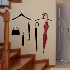 This #wall #sticker will be perfect on the walls of your hall, bathroom or kitchen! It is a very nice decorating idea if you have simple hooks or racks that you want to decorate a little.