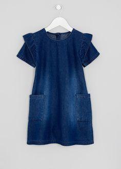 213d6dec6da8 Girls Denim Frill Dress (7-13yrs) Frill Dress