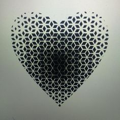 """Simple Geoheart #pattern #patterwork #geo #geometric #geometry #dotwork #dots #heart #tattoo"""