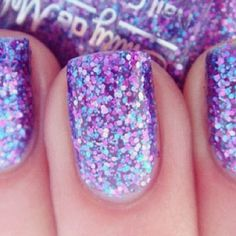 Purple sparkle mani