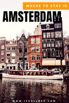 Where To Stay In Amsterdam | Best Areas To Stay In Amsterdam - Jordaan, Oost, Oud Zuid, Oud West. Hotels near Van Gogh Museum, hotels near Dam Square or Hotels near Anne Frank House. #amsterdam #europe #traveltips #packing #tips #citybreaks #travel #travelguide #travelphoto #travelidea #travelstyle traveltips #traveldeals Amsterdam City Centre, Amsterdam Red Light District, Weekend Breaks Europe, Amsterdam Jordaan, Best Travel Sites, Anne Frank House, Amsterdam Things To Do In, Leading Hotels, Van Gogh Museum