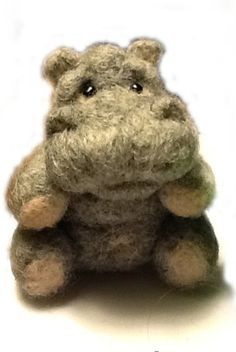 Needle-felted hippo by Needle Felted Love