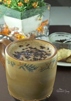 Chocolate Milk Latte is perfect for that afternoon coffee break. Chocolate and coffee, so easy to make at home. Who needs the coffee shops! | homemadeandyummy.com
