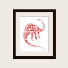 Personalised Dinosaur Print by PepperDoodles on Etsy