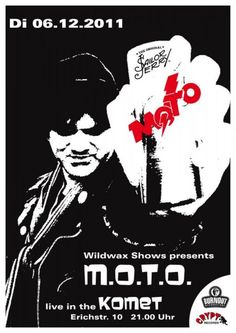 Masters Of The Obvious (M.O.T.O.) gig poster, 2011