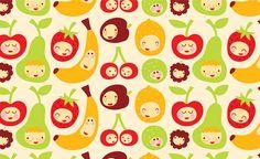 funny fruit  Fabric design