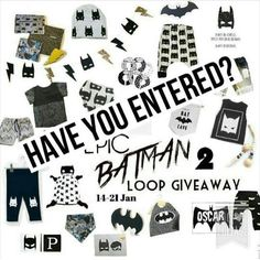 Last chance to enter! Ends Tomorrow Night! (See previous post to enter)
