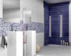Nápaditá a hravá série obkladů a dlažeb Blossom zaujme především sytou modrou barvou a moderním dekorem. Sérii nabízíme v lesklém provedení a ve formátu 25 x 60 cm. #keramikasoukup #koupelnyodsoukupa #serieblossom #koupelna #inspirace Luxury Vinyl, Bathtub, Bathroom, Home, Decorating Ideas, Walls, Image, Standing Bath, Washroom