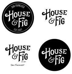 our new logo for www.houseandfig.com thanks to Annemarie of Scout's Honor Co.