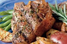 Rosemary Lamb Chops with Grill-Roasted Potatoes from Weber Grills and Accessories