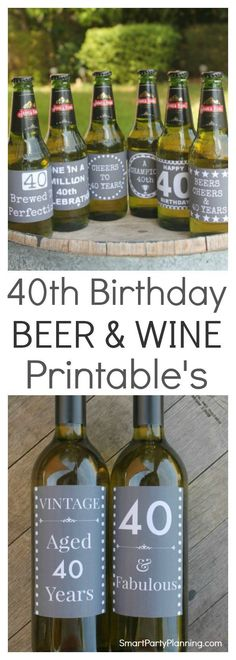 Need some 40th birthday ideas for men? The perfect place to start is to give him his favorite six pack with some fabulous printable labels wrapped around them. They make an easy birthday present idea, but are also fantastic for 40th birthday party styling. Love wine too? Not a problem, as there are printable 40th birthday wine labels to match. This is one of the best 40th birthday present ideas you are going to have!