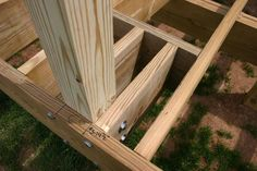 deck rail post attachment - Google Search