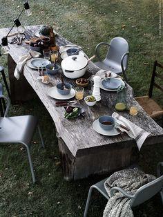 styling Daniella Witte for Ikea Livet Hemma. Dining outside.  www.annagillar.se