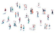 Kindergarten design, cartoon people, people art, cut out people, people ill People Cutout, Cut Out People, People Art, Architecture People, Architecture Graphics, Architecture Drawings, People Illustration, Character Illustration, Kindergarten Design