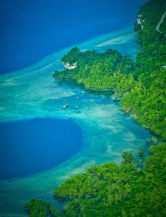 Flew over the coast of Biak island, Papua, with Cessna granted a beautiful scenery