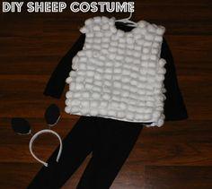 DIY Sheep Costume http://www.iheart-motherhoodblog.com/2014/12/diy-sheep-costume.html#.VILxsjCJOuY