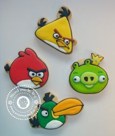 Angry Birds Cookies How To