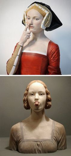 Gerard Mas creates Renaissance-style bust sculptures with a modern day twist.