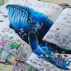 #wip #kerbyrosanes #animorphiacolouringbook #animorphia #whale #underthesea #nature #sealife #colouring #colors #colours #colouredpencils #colorscheme #doodles #addictedtocoloring #adultcoloringbook #adultcolouring #colouringaddictionforadults #colouring addict #arttherapy #colouringtherapy #boracolorirtop #beauty #beautifulcolors #colorindolivrostop
