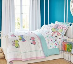 Lucy Butterfly Quilted Bedding | Pottery Barn Kids