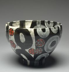 Marcy Neiditz - Large Circle Bowl Velvet Underglazes - Cone 5/6 Ceramic Decor, Ceramic Clay, Sgraffito, Ceramic Artists, Surface Design, Vases, Pots, Container, Pottery