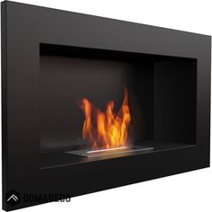 Georgia Black horizontal wall mounted bioethanol fireplace modern style fireplace for your home Bioethanol Fireplace, Modern Fireplace, Fireplace Mantels, Bio Ethanol, Ethanol Fuel, Wall Mounted Fireplace, Georgia, External Doors, Electric Fireplace