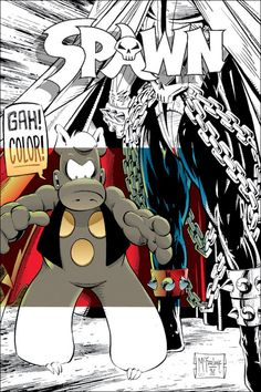 Cerebus the Aardvark and Spawn crossover by Dave Sim and Todd MacFarlane
