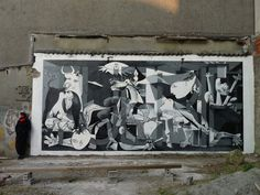 Guernica on the streets, by Tuerie, street artist