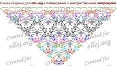 Схема вязания шали с паучками