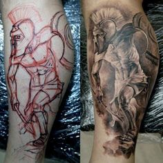 Leg Tattoos For Men - Warrior