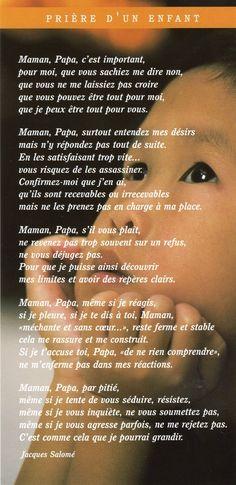 La prière de l'enfant