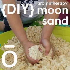 DIY Aromatherapy moon sand with doterra Doterra Blog, Doterra Recipes, Doterra Essential Oils, Bath Recipes, Soap Recipes, Diy Moon Sand, Diy For Kids, Crafts For Kids, Essential Oils For Kids