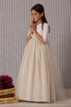 Vestido comunión modelo TUL - A Gatas Ropa Infantil