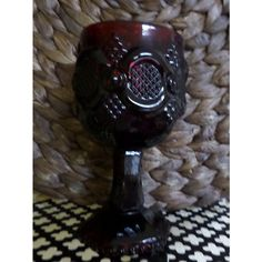 Avon Rudy Red Goblet 1876 Cape Cod Collection ($9.25) ❤ liked on Polyvore featuring home, kitchen & dining and drinkware