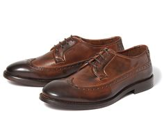 Elford Brown (£145.00) - This mens traditional formal brogue shoe with a smooth brown leather upper and slightly darker toe will bring any o...