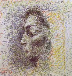 """Pablo Picasso - """"Jacqueline"""". 1957 г"""