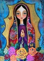 Shop Ana Ferrer Art's store featuring unique designs on various products across art prints, tech accessories, apparels, and home decor goods. Catholic Art, Religious Art, Virgin Mary Art, Pop Art, Spiritual Paintings, Blessed Mother Mary, Arte Popular, Mexican Folk Art, Naive Art