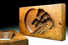 Japanese Kashigata - Antique Cake Mold - Wood Mold Kashigata - Wooden Cake Mold - Antique Kashigata Mold by JapaVintage on Etsy