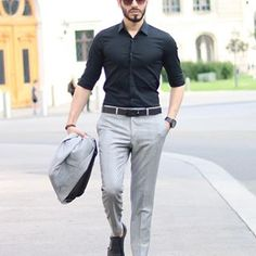Enjoy your afternoon guys 🥂🤩 Rate it 1 - 10 🤔 need your opinion Mens Semi Formal Outfit, Formal Dresses For Men, Formal Pants, Formal Outfits, Mens Office Fashion, Mens Fashion Suits, Professional Dress For Men, Business Casual Men, Men Casual